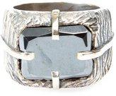 Tobias Wistisen 'Sawed Stone' ring