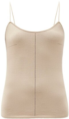 Lemaire Fine-strap Knitted Cami Top - Beige