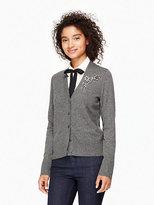 Kate Spade Embellished brooch cardigan