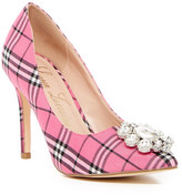 Lauren Lorraine Giselle Embellished Plaid Pump