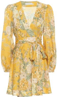 Zimmermann Amelie floral linen minidress