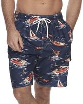 Croft & Barrow Men's Tropical Microfiber Swim Trunks