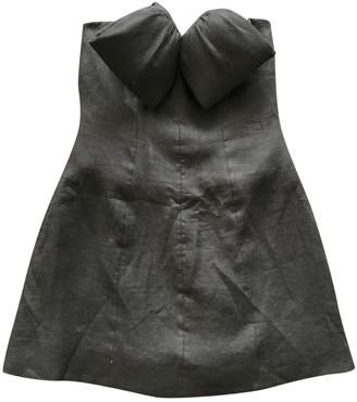 Alexis Mabille Anthracite Linen Dress for Women
