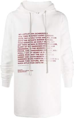 Rick Owens poem hoodie