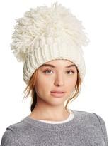 Federica Moretti Knit Hat with Oversized Pom-Pom