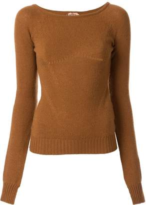 No.21 arm slits knitted top