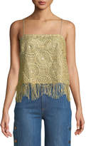 Ramy Brook Malena Crochet Fringe Cami Top