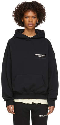 Essentials Black Pullover Hoodie