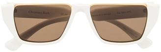 Christian Roth Square-Frame Shield Sunglasses
