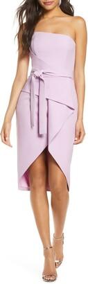 Lavish Alice Bandeau Origami Midi Dress