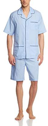 Seidensticker Men's Pyjama Kurz Set, (Blue 800), (Size: 60)