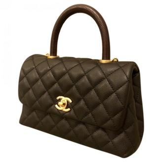 Chanel Coco Handle Black Leather Handbags