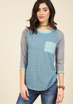 Lost and Lounge Top in Blue in L