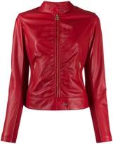 Liu Jo faux-leather fitted jacket