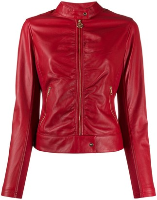 Liu Jo Faux-Leather Fitted Jacket