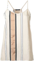 Roberto Collina striped tank top - women - Nylon/Acetate - XS