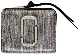 Marc Jacobs Silver Glitter Mini Snapshot Wallet