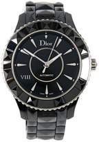 Christian Dior Black Steel Watch Christal