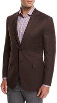 Brioni Solid Wool Sport Coat, Rust Brown
