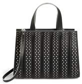 Max Mara Medium Whitney Polka Dot Leather Tote