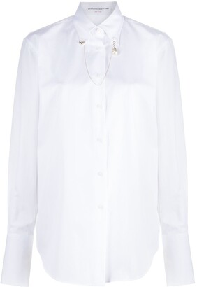 Ermanno Scervino Chain Collar Button-Down Shirt