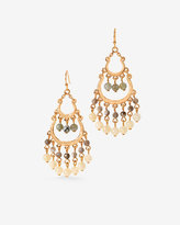 White House Black Market Semi-Precious Tiered Chandelier Earrings