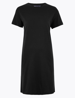 Marks and Spencer Pure Cotton T-Shirt Mini Dress