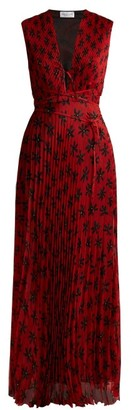 Raquel Diniz Mika Floral-print Pleated Dress - Womens - Red Multi