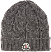 Moncler Cable-Knit Cap-DARK GREY