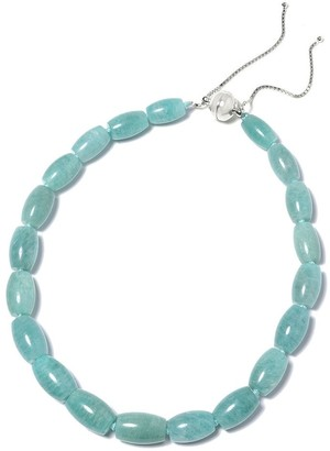 Shop Lc 925 Sterling Silver Bead Amazonite Strand Necklace Size 18 Inch ct 744 - Size 18-24''