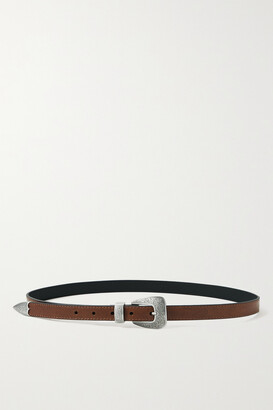 Kate Cate + Net Sustain Thin Kim Leather Belt - Brown