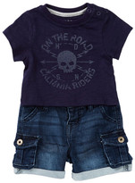 Hudson Skull Shirt & Cargo Shorts Set (Baby Boys)