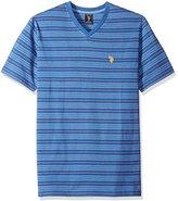 U.S. Polo Assn. Men's Multi Stripe V-Neck T-Shirt