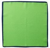 John W. Nordstrom Dot Solid Border Silk Pocket Square