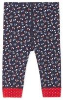Petit Bateau Baby girls long leggings in printed tube knit