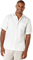 Cubavera Big & Tall 100 % Linen Short Sleeve 1 Pocket Shirt