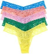 Hanky Panky Petite Signature Lace Thongs, Set of 5
