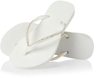 Havaianas Women's Slim Crystal Mesh Flip Flop Sandal