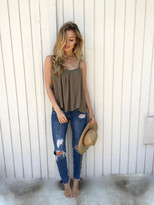 Tysa Gold Dust Tank in Olive