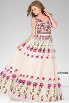 Jovani A-Line Tulle Prom Dress 47743