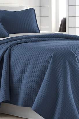 King/California King Southshore Fine Linens Vilano Springs Oversized Quilt Set - Dark Blue