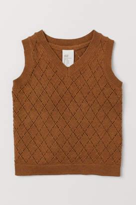 H&M Pointelle Sweater Vest - Beige