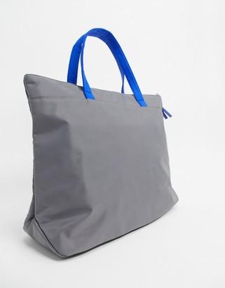 House of Holland Padded Shoulder Bag In Grey