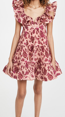 Zimmermann The Lovestruck Pleated Mini Dress