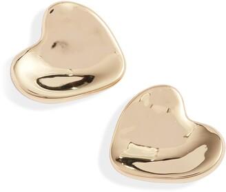 Jenny Bird Ophelia Heart Stud Earrings