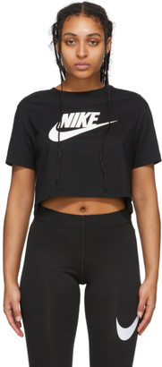 Nike Black Essential Crop Icon T-Shirt