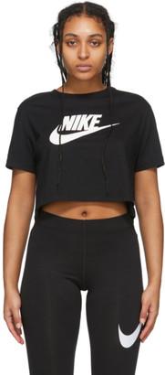 Nike Black Essentials Crop Icon T-Shirt