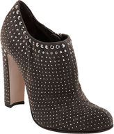 PRADA Studded Shoe Bootie - Grey