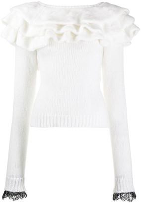 Philosophy di Lorenzo Serafini ruffled sweater