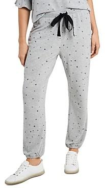 CeCe Star Print Jogger Pants